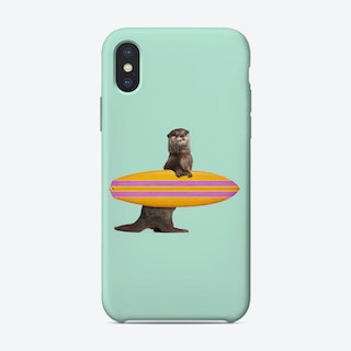 Surfing Otter  iPhone Case