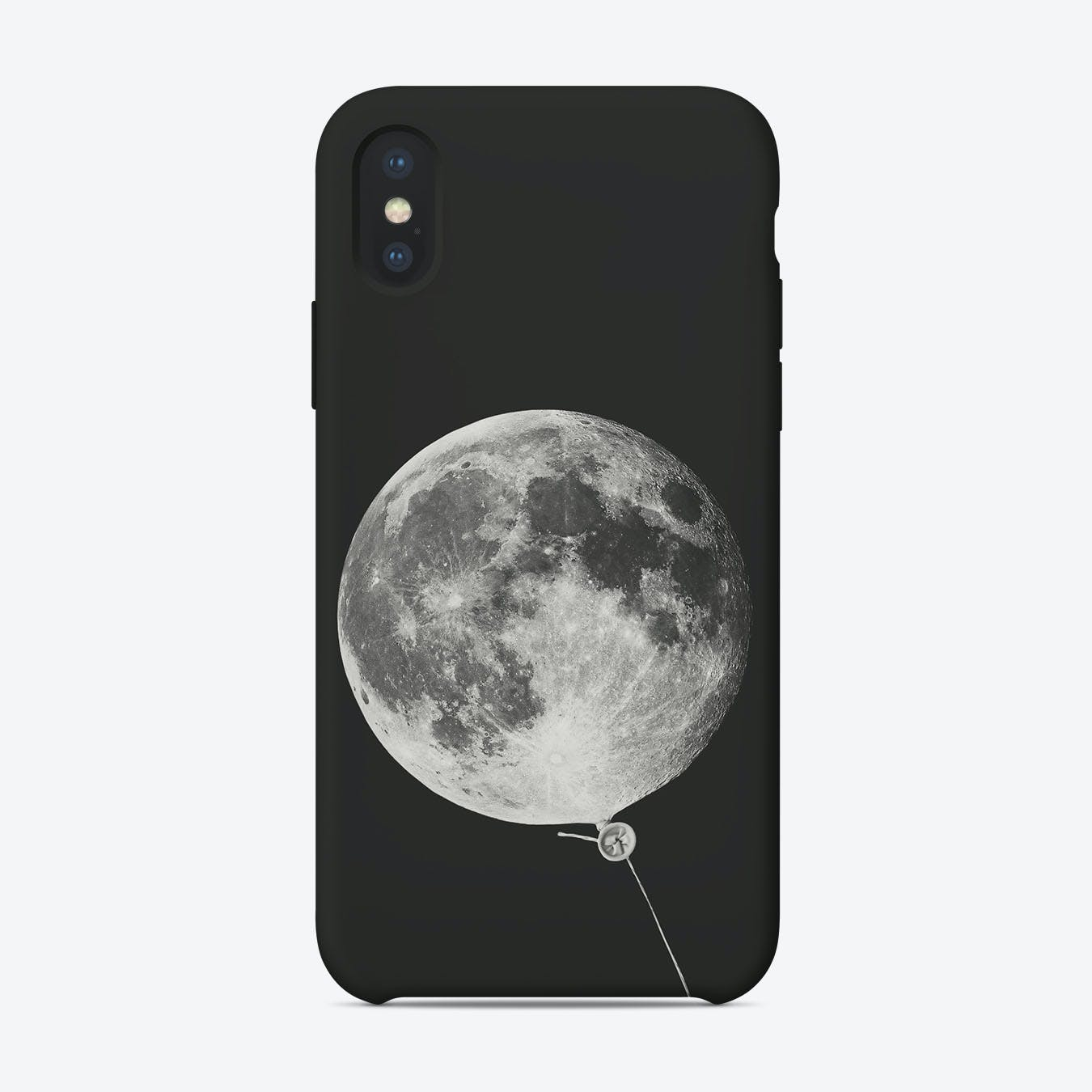 Moon Balloon Space iPhone Case