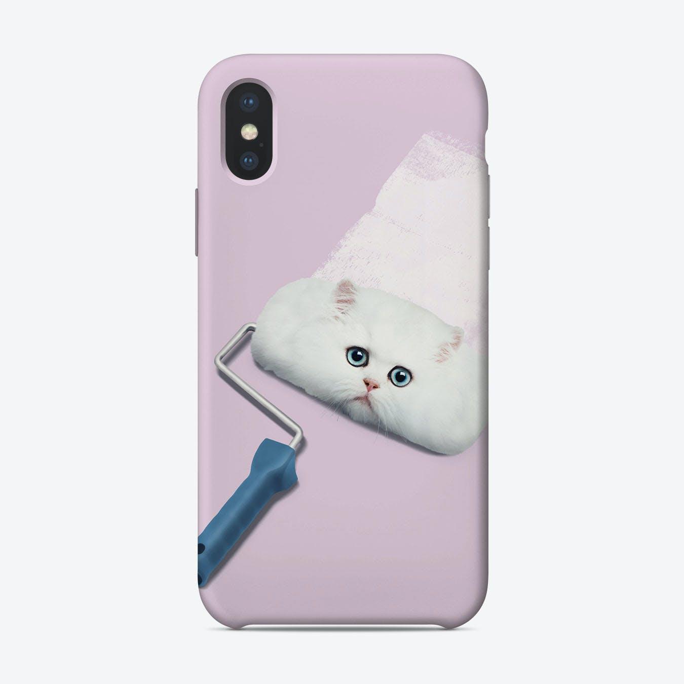 Paint Roller Cat iPhone Case