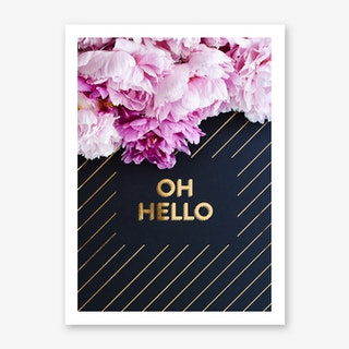 Oh Hello Flowers Art Print