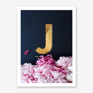 Flower Alphabet J Art Print
