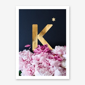 Flower Alphabet K Art Print