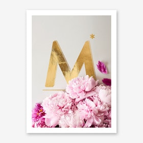 Flower Alphabet M Art Print
