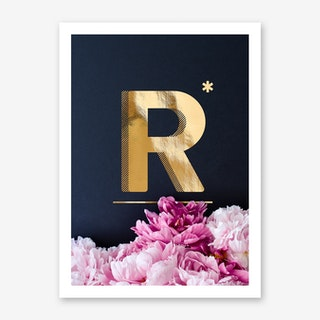 Flower Alphabet R Art Print