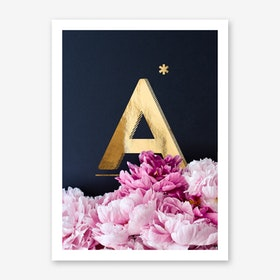 Flower Alphabet A Art Print