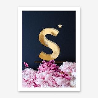 Flower Alphabet S Art Print