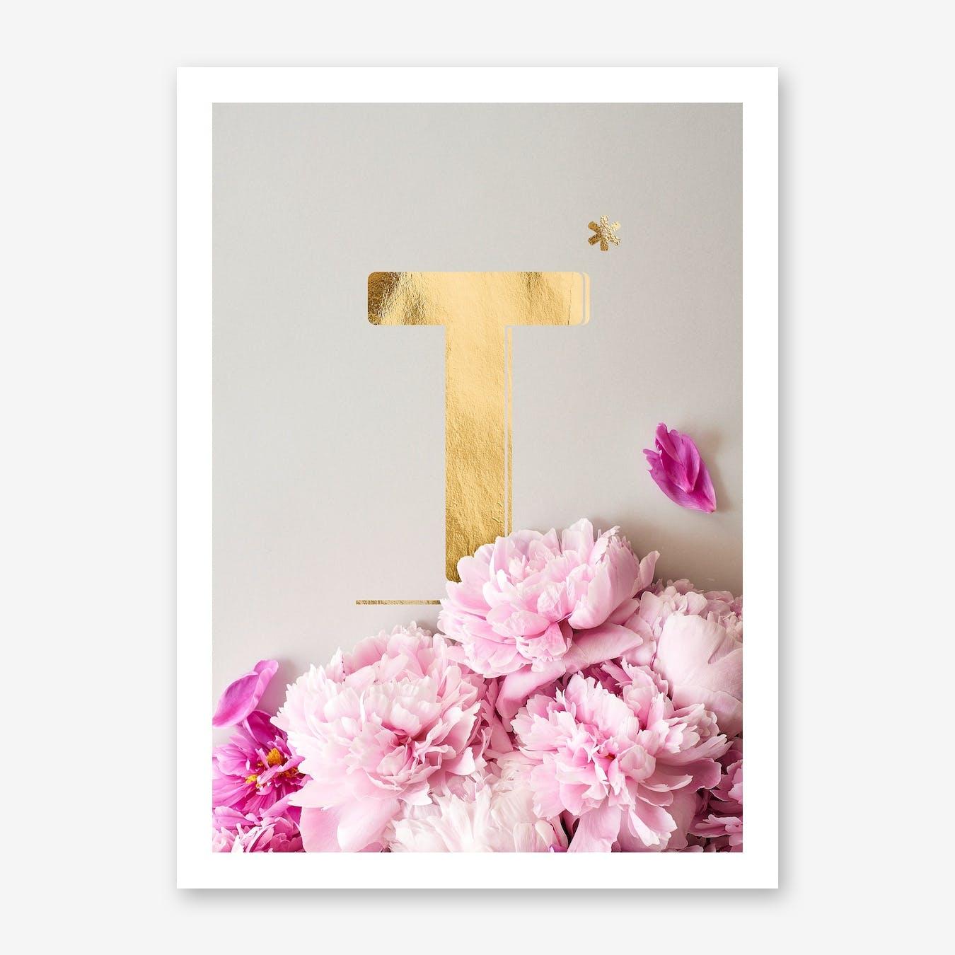 Flower Alphabet T
