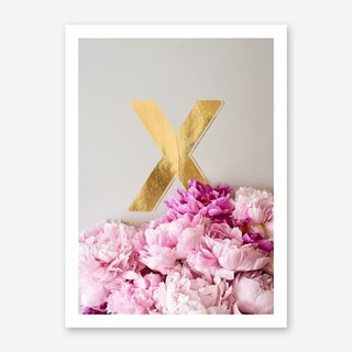 Flower Alphabet X Art Print