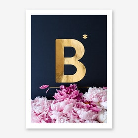Flower Alphabet B Art Print