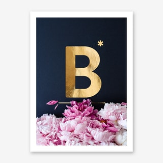 Flower Alphabet B Art Print