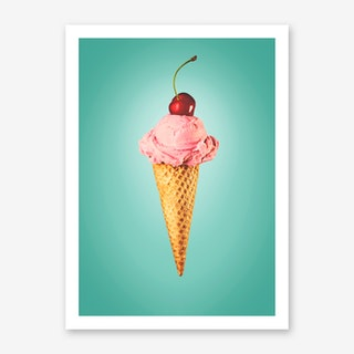 I Lov Cherry Icecream Art Print