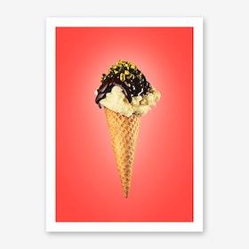 I Love Vanilla Icecream Art Print