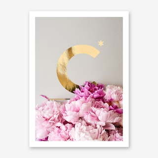 Flower Alphabet C Art Print