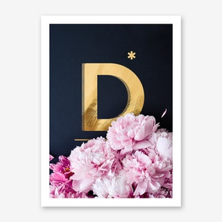 Flower Alphabet D Art Print