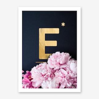 Flower Alphabet E Art Print