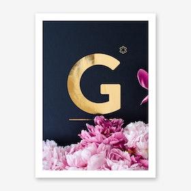 Flower Alphabet G Art Print