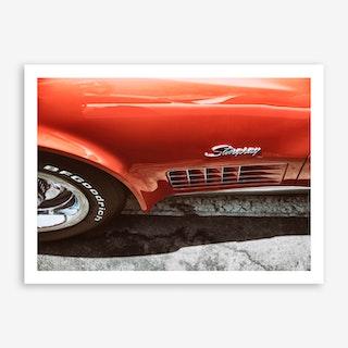 Stingray Red Art Print