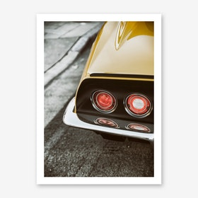 Corvette Yellow Art Print