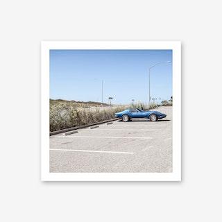 Blue Corvette Art Print
