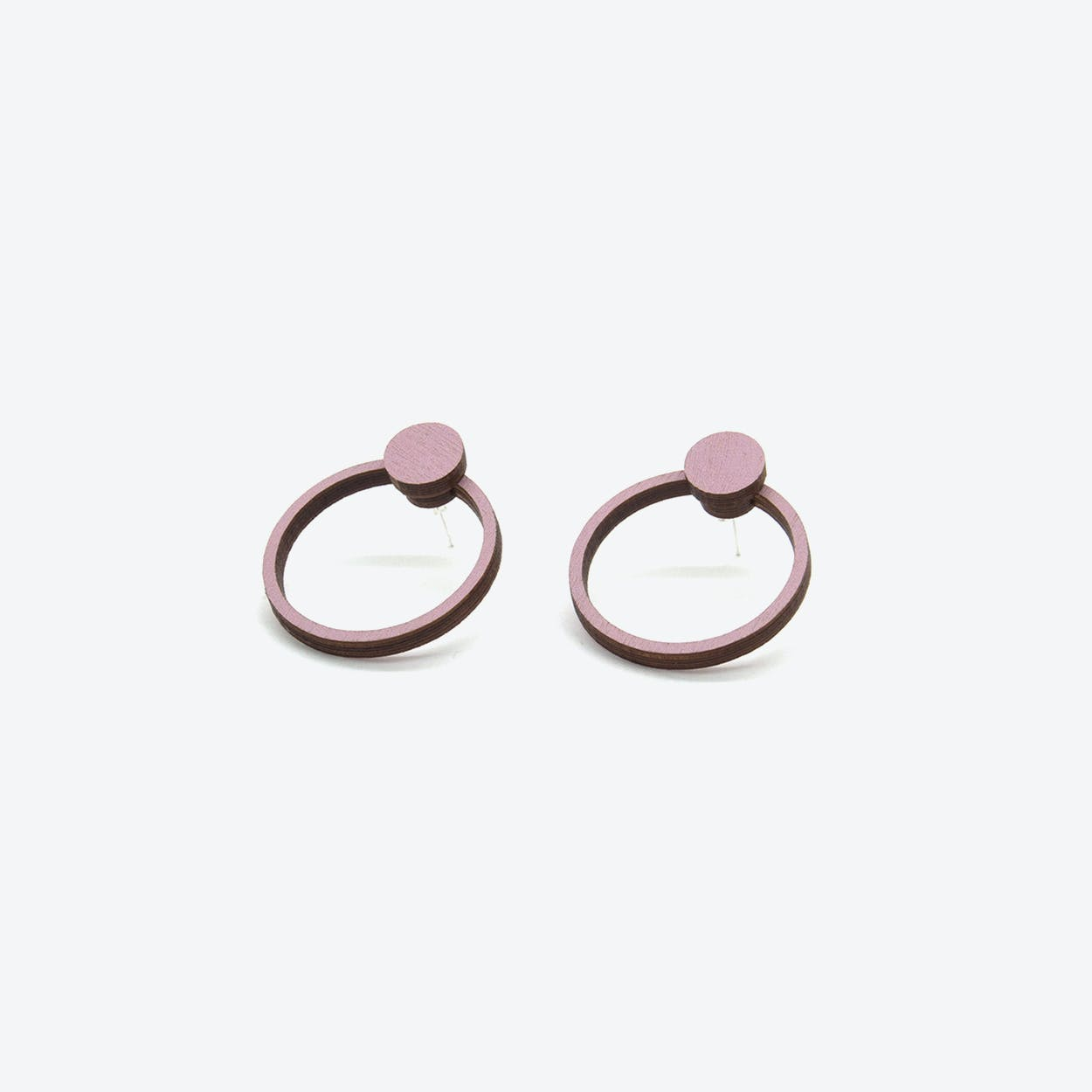 Orb Stud in Smoky Pink