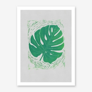 Monstera Acquamarina Art Print