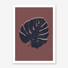 Monstera Brick and night Art Print