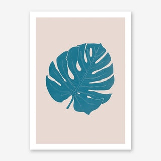 Monstera Celeste Rosa Art Print