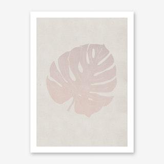 Monstera Rose Art Print