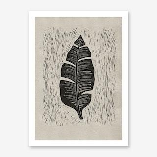 Palma Midnight Grey Art Print