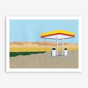 Gas Station Death Valley Art Print