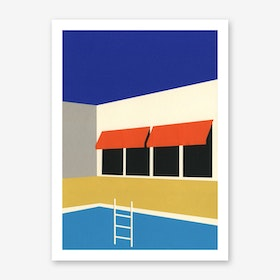 Palm Springs Pool House Art Print