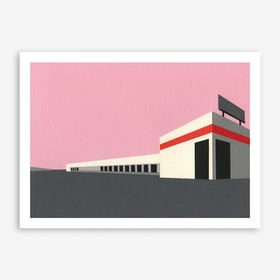 Sunset Warehouse Art Print