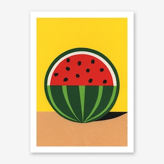 Three Quarter Watermelon Art Print