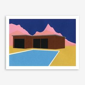 California Summer House Art Print