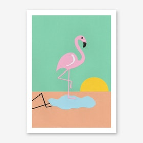 Flamingo Herbert Art Print