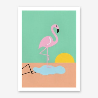Flamingo Herbert Art Print