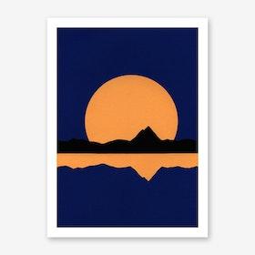 Fullmoon Rising Over Silverwood Lake Art Print