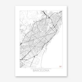 Barcelona Map Minimal