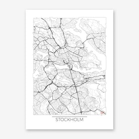 Stockholm Map Minimal