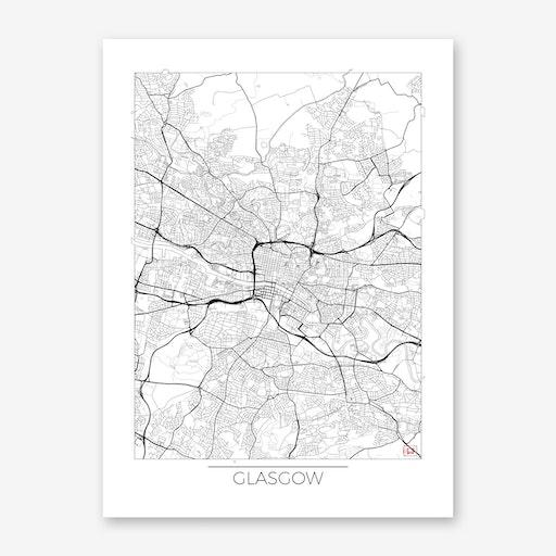 Glasgow Map Minimal