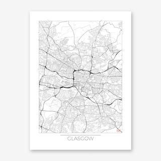 Glasgow Map Minimal Art Print