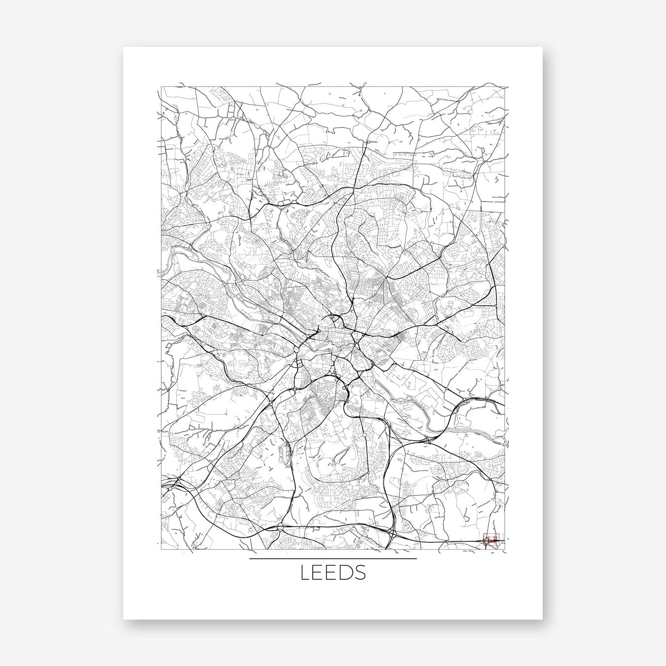 Leeds Map Minimal