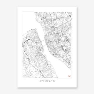 Liverpool Map Minimal Art Print