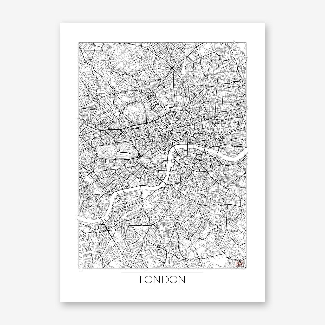 London Map Minimal