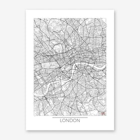 London Map Minimal Art Print