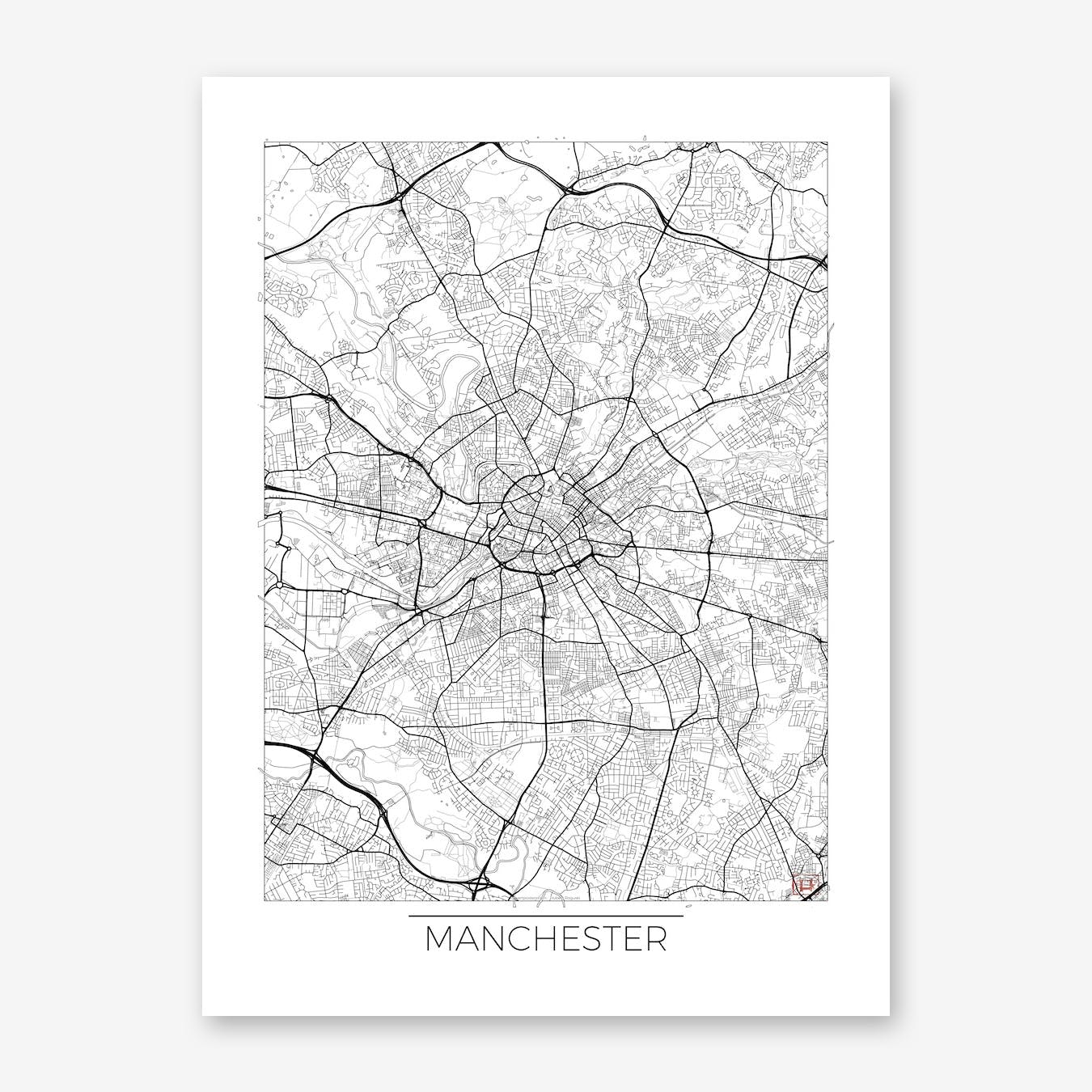 Manchester Map Minimal