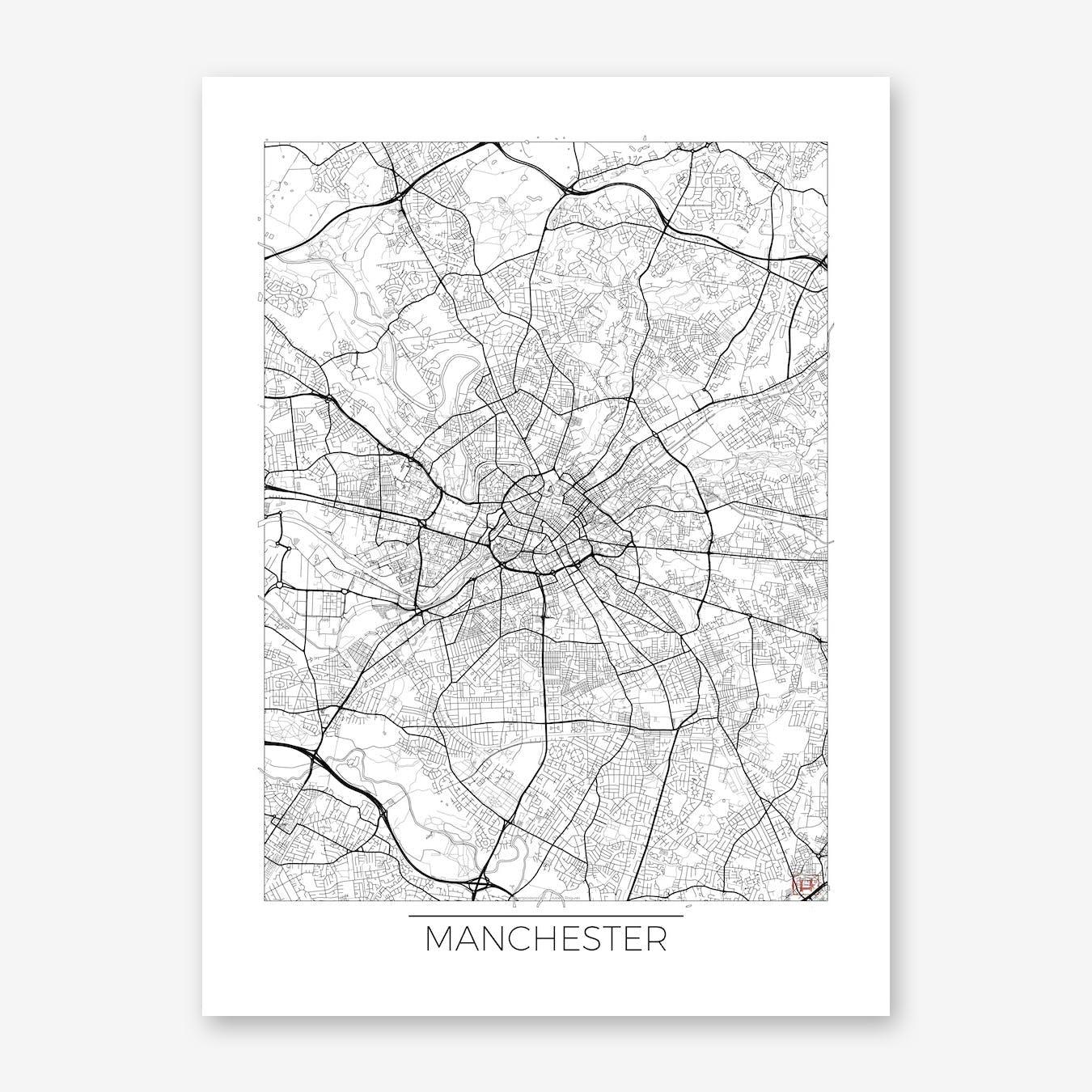 Manchester Map Minimal