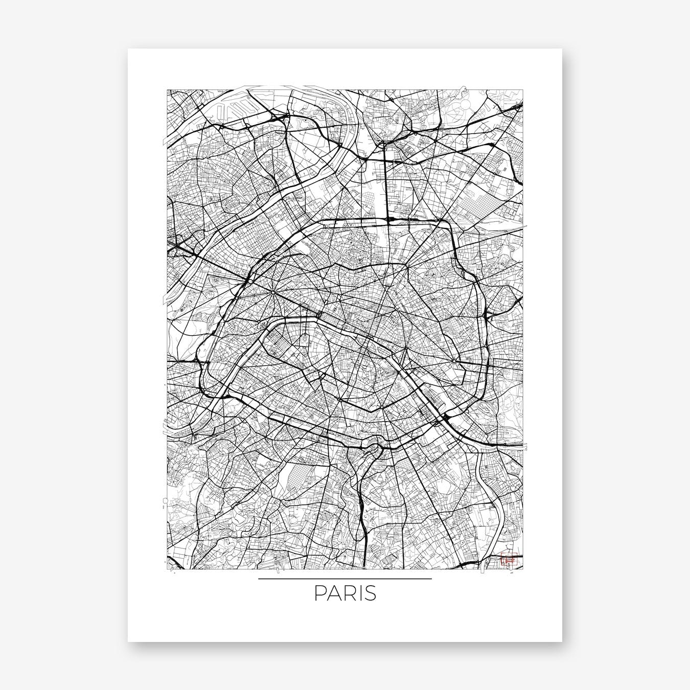 Paris Map Minimal