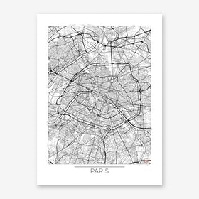 Paris Map Minimal