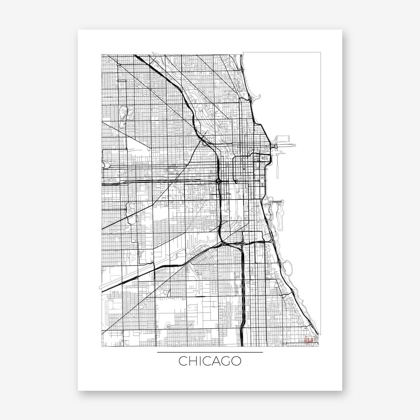 Chicago Map Minimal